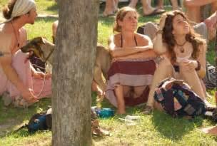 Hippie Public Upskirt No Panties Oops