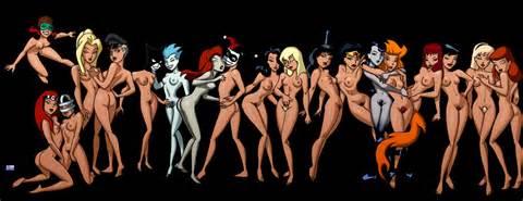 DCAU Nudes by Bruce Timm  ComicImages.com