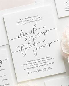 romantic calligraphy letterpress wedding invitations With writing wedding invitations in calligraphy