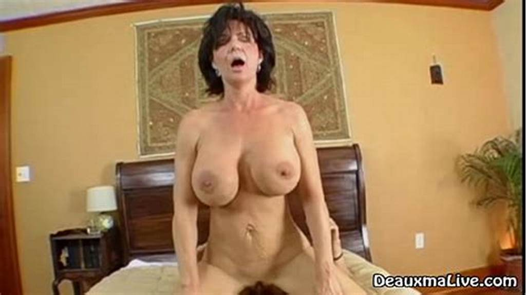 #Mature #Milf #Deauxma #Rides #Her #Boy #Toys #Big #Cock