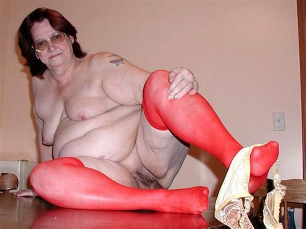 #Nasty #Big #Granny #In #Red #Stockings #Toying #Her #Hairy #Mature