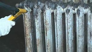 Comment Démonter Un Radiateur En Fonte : a rogommage d 39 un radiateur en fonte youtube ~ Premium-room.com Idées de Décoration