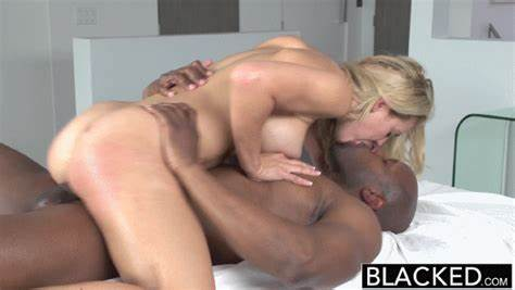 Interracial Lovers Pounded Rough To Get Shocking Ass Cumshot