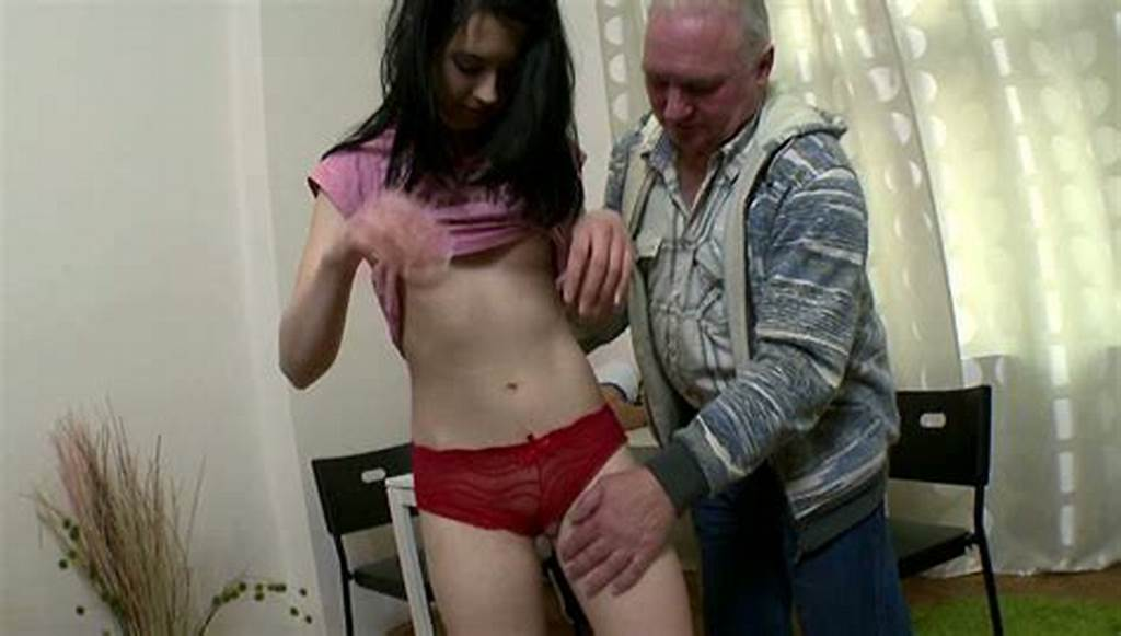 #Pretty #Brnette #Seduced #By #An #Old #Man #Next #To #Her #Sleeping