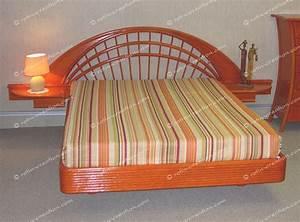 Lit En Osier : t te de lit houston en 160 t te de lit avec tablettes ~ Teatrodelosmanantiales.com Idées de Décoration