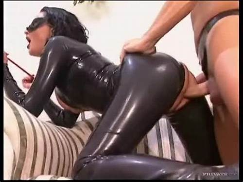 Interracial Porn With Body Heavy In Latex #Full #Latex #Catsuit #On #Slut #Taking #Dick