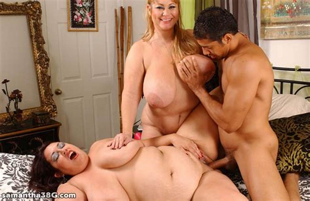 #Dude #Serviced #By #Two #Fat #Moms