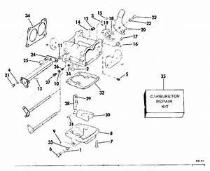 Evinrude 1978 235 - 235840r  Carburetor