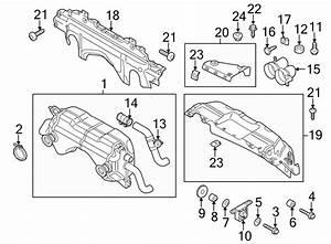 2015 Audi R8 Exhaust System Hanger  Muffler Bracket