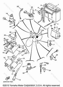 Yamaha Motorcycle 1997 Oem Parts Diagram For Electrical