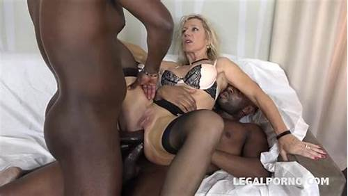 Sultry Stockings Teenie Like Assfuck Penetration #Black #On #Mature #Double #Anal #With #Marina #Beaulieu