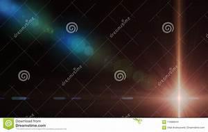 Abstract, Of, Lighting, Digital, Lens, Flare, In, Dark, Background