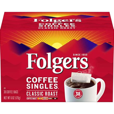 Available in join the wakin' up club®. Folgers Coffee Singles Classic Roast, 38 Single Servings (Pack of 2) - Walmart.com - Walmart.com