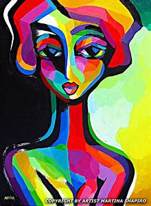 Introspective Woman abstract original painting by artist ...