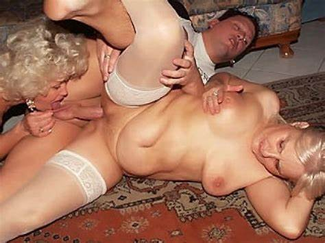 Threesomes Desirable Hotties Enjoying Strip Down Granny Booty