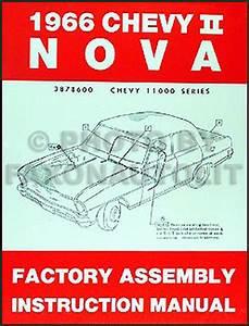 1966 Chevy Ii  U0026 Nova Wiring Diagram Manual Reprint