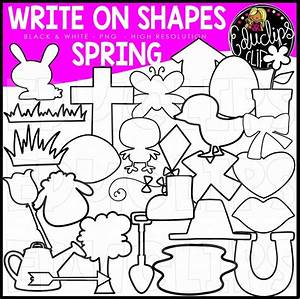 Write On Picture Shapes - Spring Clip Art Bundle