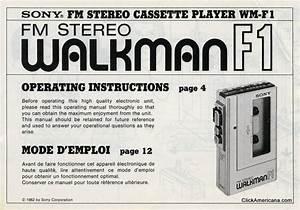 Walkman Instruction Manual  1982