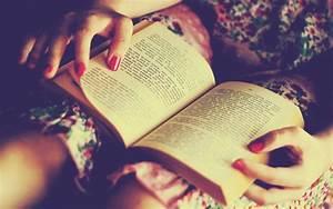 girl-red-nail-polish-reading-book-wide-hd-wallpaper ...