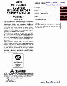 Mitsubishi Eclipse  Eclipse Spyder 2003 Repair Manual