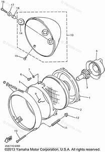 Yamaha Motorcycle 2001 Oem Parts Diagram For Headlight