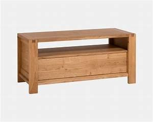 Meuble Tv Petit : petit meuble tv en ch ne massif sainbiose delorme meubles ~ Teatrodelosmanantiales.com Idées de Décoration