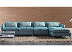 modern blue leather sectional sofa living room With kaspar modern sectional sofa