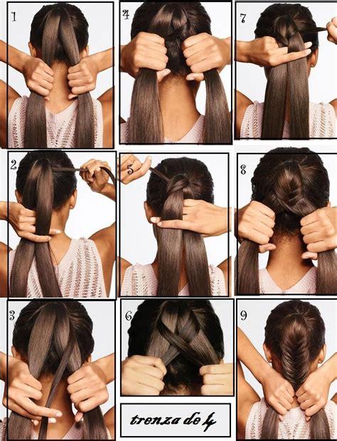 aprendiendo a hacer una trenza de / / / Peinados con
