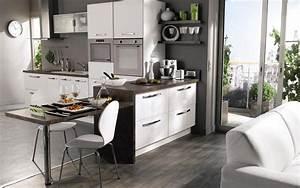 cuisine ouverte petite surface cuisine en image With cuisine amenagee petite surface