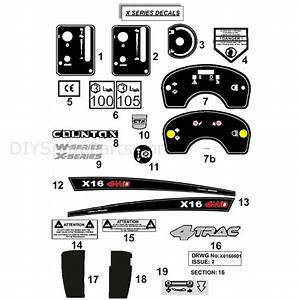 Countax X Series Rider 2010  2010  Parts Diagram  Decals