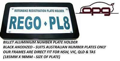 Find out what you need to do to get a learner motorcycle licence, rider courses and providers and how to upgrade to provisional, open and class r licences. NUMBER / REGISTRATION PLATE FRAME MOTORBIKES MOTORCYCLE VIC TAS NSW QLD BLACK | eBay