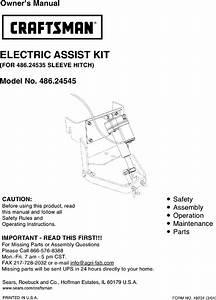 Craftsman 486 24545 Owners Manual