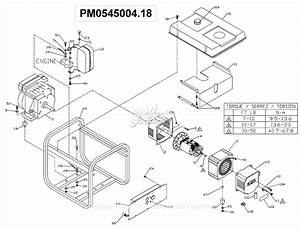 Powermate Formerly Coleman Pm0545004 18 Parts Diagram For