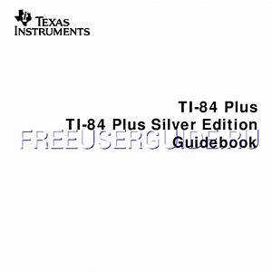 Ti 84 Plus Instruction Manual Pdf