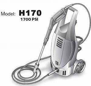 H170 Electric Pressure Washer Replacement Parts
