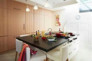 modele cuisine avec ilot central table collection avec With ilot central cuisine avec table