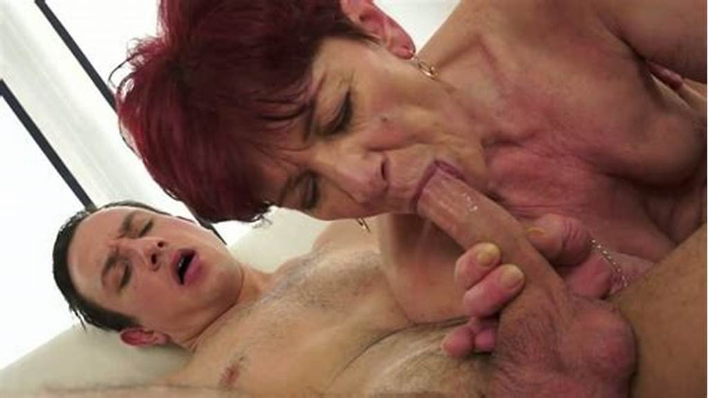 #Small #Tittied #Red #Haired #Old #Woman #Rides #Student #Reverse