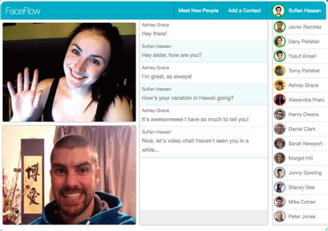 chat video chat  friends  faceflow