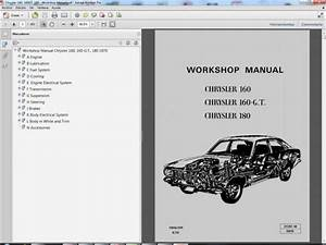 Chrysler 160  160gt  180 Service Manual