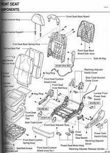 Front Seat Diagram  Broken Part  - Clublexus