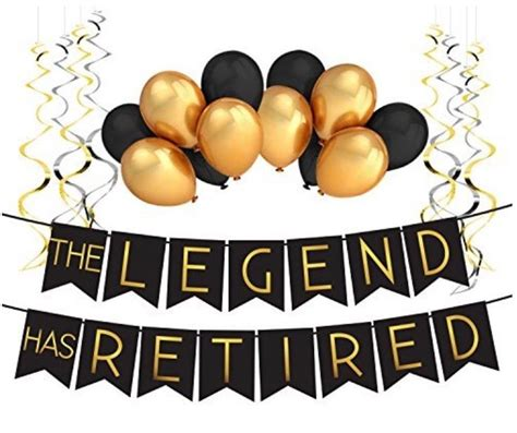 We adore retirement parties and we're happy to help you source out some fabulous retirement party ideas for decorations, party favors, gifts & more. Perfect Black & Gold Male Retirement Party Banner! Can't wait to use it | Retirement party ...