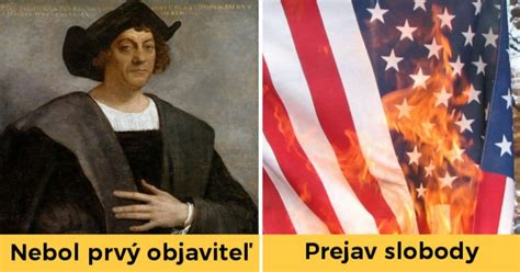 Ameriku objevil Kolumbus a pálení vlajky USA je trestný ...