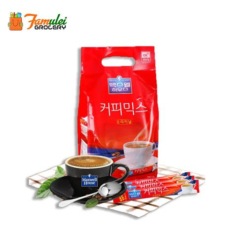 Coffee, sugar, non dairy creamer (contains sodium caseinate (a milk derivative))>. Maxim Maxwell House Korea Coffee Mix Original 100 Sticks 1 ...