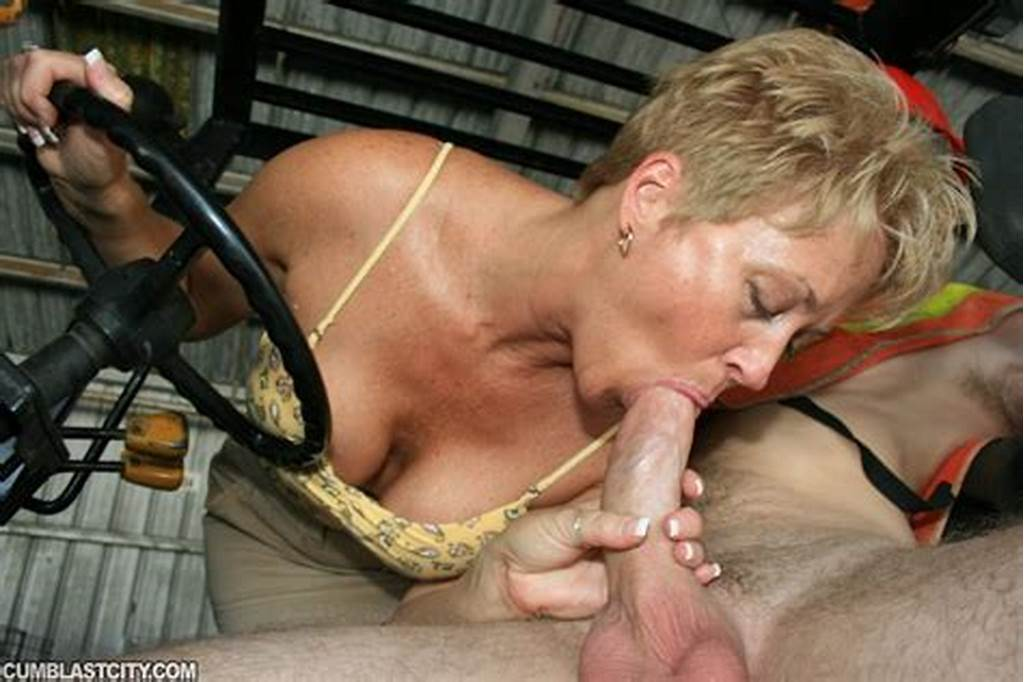 #Short #Haired #Mature #Secretary #Sucking #And #Jerking #Off #A