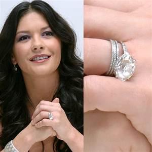 catherine zeta jones39s pretty diamond marquise With catherine zeta jones wedding ring