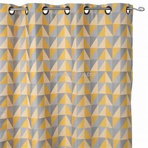 Rideau Jaune Et Blanc : rideau jaune moutarde ~ Teatrodelosmanantiales.com Idées de Décoration