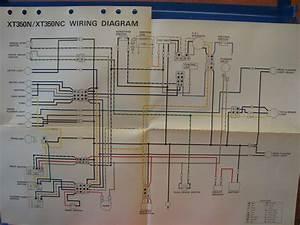Nos Yamaha Factory Wiring Diagram 1985 Xt350 N Xt350 Nc