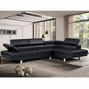 Harper, U0026bright, Designs, Modern, Faux, Leather, Sectional, Sofa, With, Adjustable, Headrest, And, Functional