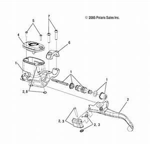 Brakes  Front Brake Lever And Master Cylinder Para Polaris
