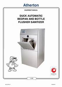 Duck Automatic Bedpan And Bottle Flusher Sanitizer